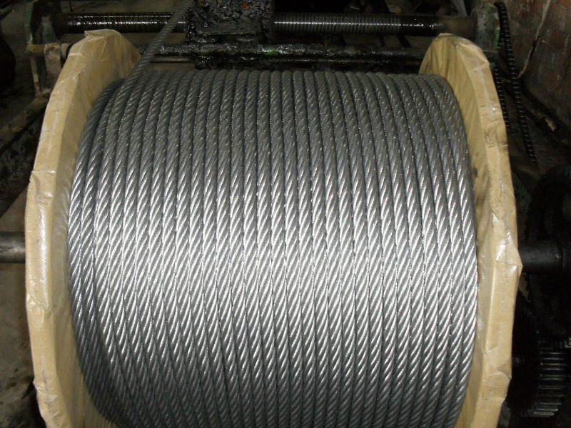 high tensile galvanized steel wire rope 7x7,7x19,6x12,6x24,6x36
