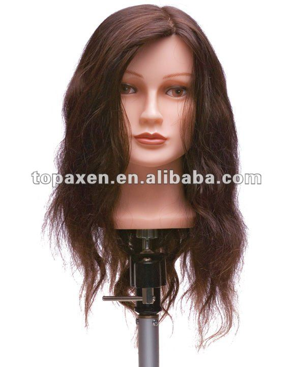 Real human Hair Hairdressing Training Head Mannequin