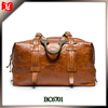 Custom men genuine leather travel bag leather duffle bag wholesale men leather duffle bag