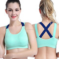 Womens shockproof fitness sport yoga top bra