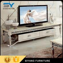 Italian style latest design modren TV stand/TV cabinet marble top modern