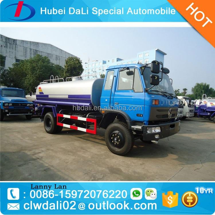 Very good quality 170HP 10000 liters Dongfeng 4*2 stainless steel water tank truck for sale