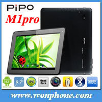 "New arrival PIPO M1PRO Quad Core Tablet Pc RK3188 1.6GHZ Andriod 4.2 Bluetooth 9.7"" IPS 1024*768 16GB"