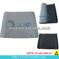 Rubber Material Green/Blue/Grey 2 Layers Glossy or Dull ESD Safe Table Mat