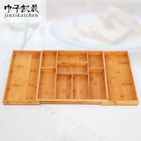 Factory Wholesale Restaurant Kitchen Silverware Tray Bamboo Cutlery Holder