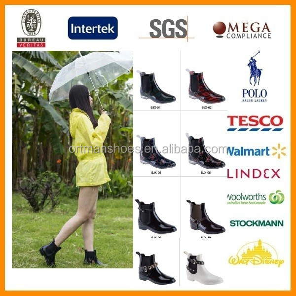 Light Weight half PVC and Rubber Rubber Boots