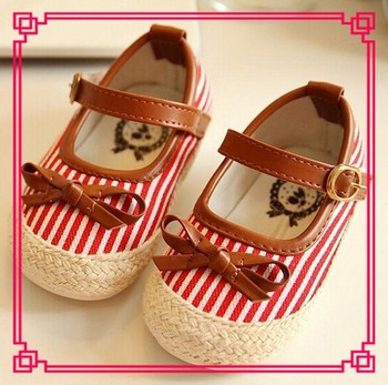 Fashion baby kids stripped fabric espadrilles shoes high quality buckle strap little girls jute casual shoes red espadrilles