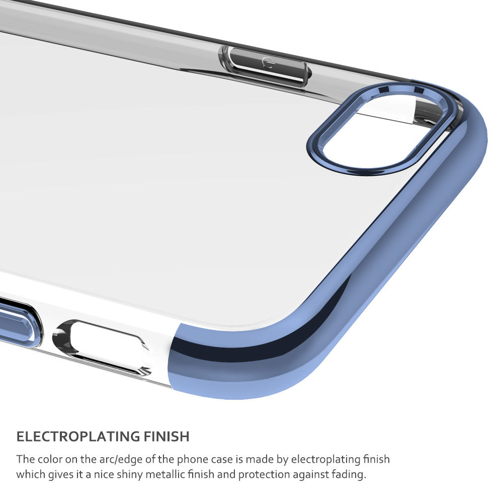 Luxury Ultra Thin Electroplate TPU Back Cover Mirror Phone Case For iPhone 7