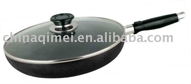 ceramic fry pan with glass lid with non- stick coating