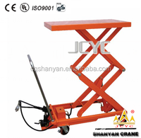 4 wheels mobile motorized electric hydraulic scissor lift table