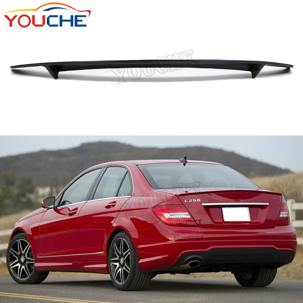 RT style rear boot trunk spoiler for Mercedes <strong>C</strong> class W204 4 door sedan 2007-2014