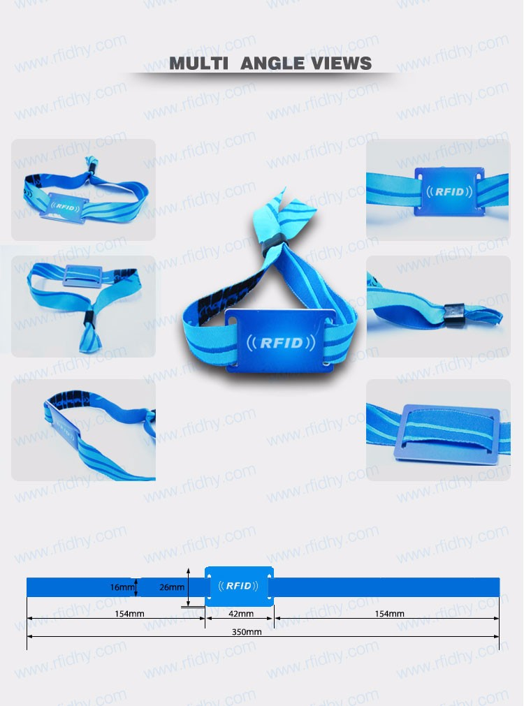 Party / Concert / Music Festival Woven RFID Passive NFC Wristband