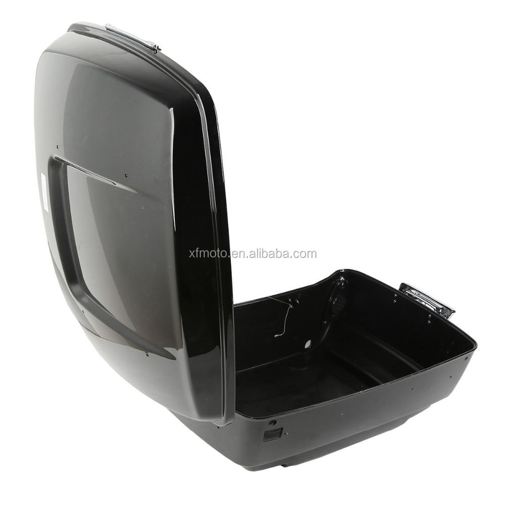 Vivid Black Tour Pak Trunk +Lid with lock set For Touring Models Road King Electra Glide 2014-2015