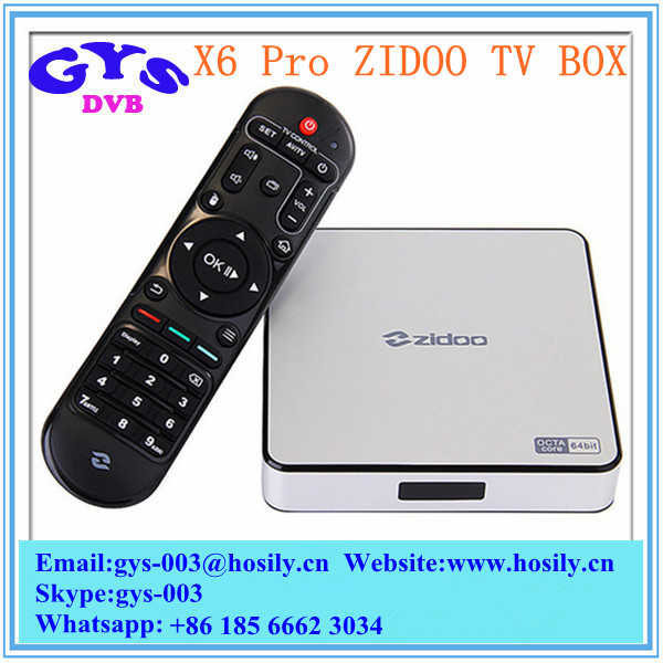 Zidoo X6 PRO TV Box RK3368 Octa Core Dual Band WIFI 4K KODI Android 5.1 TV Box