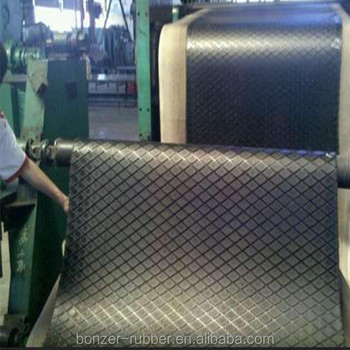 Slip Resistant Rhombus Rubber Sheet/Mat Factory From China
