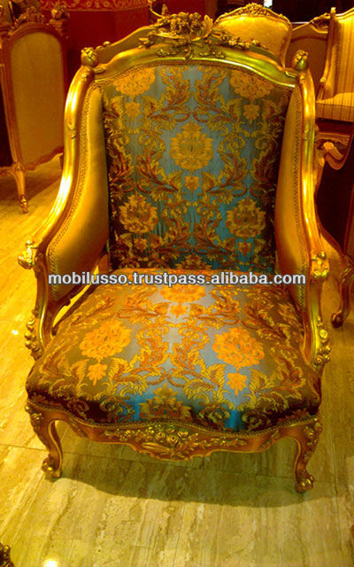 Royal Furniture Style French Antique Gold Sofa Set