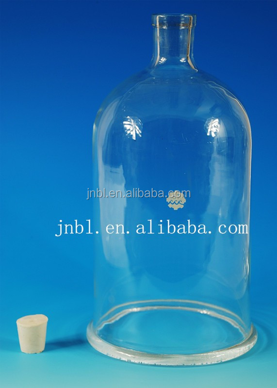 BELL JAR with ground-in glass stopper,clear bell jars glass domes wholesale