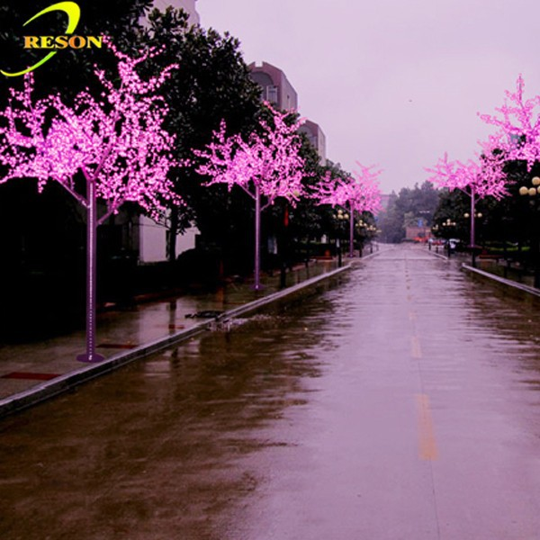 Outdoor Artificial Light Up Cherry Trees