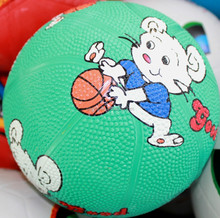 cute mouse kids small rubber basketball for children