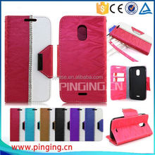 high quality lady wallet style flip leather cover case for zte blade A1 case