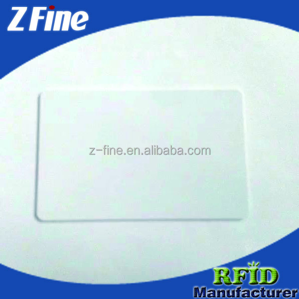 Credit Card Size Plastic Blank Card in PVC ZFINE