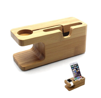 OEM/ODM Bamboo Wood New Edition Waterproof Charging Station Stand Cradle Holder for apple watch