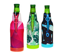 Candom NFL Team Logo Drink Beer Beverage Bottle Insulated Picnic Outdoor Party Beach BBQ Kooler Bottle