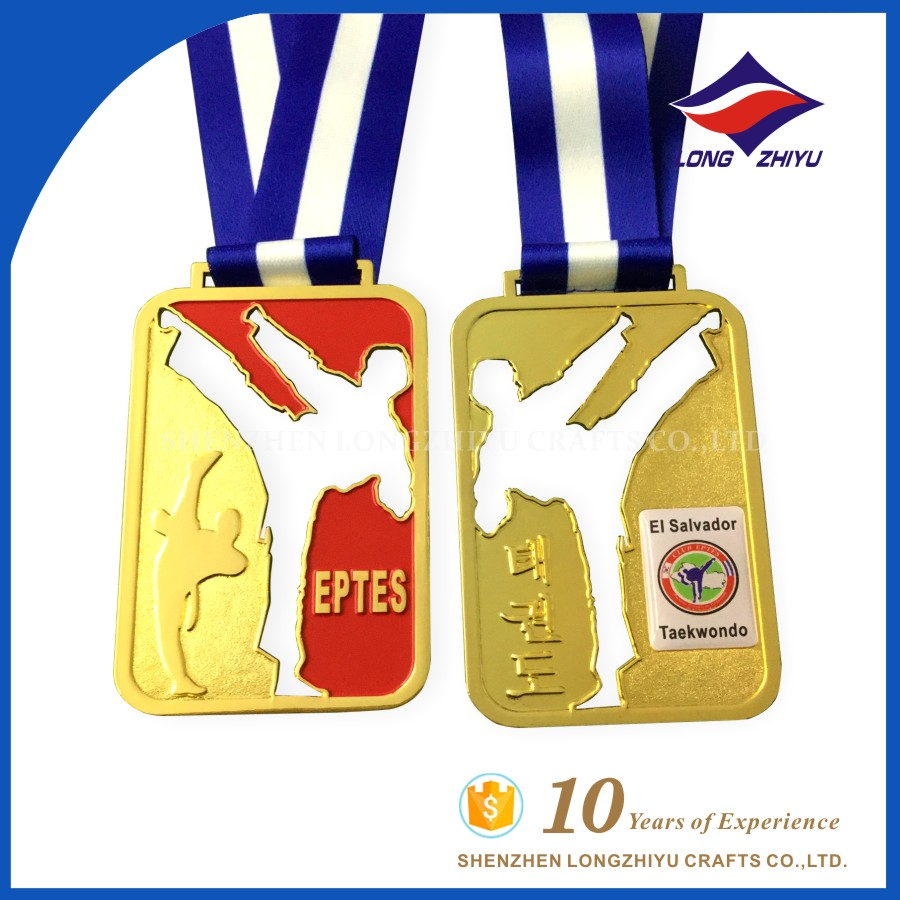 Hollow-carved El Salvador Taekwondo High Quality Medal Sports