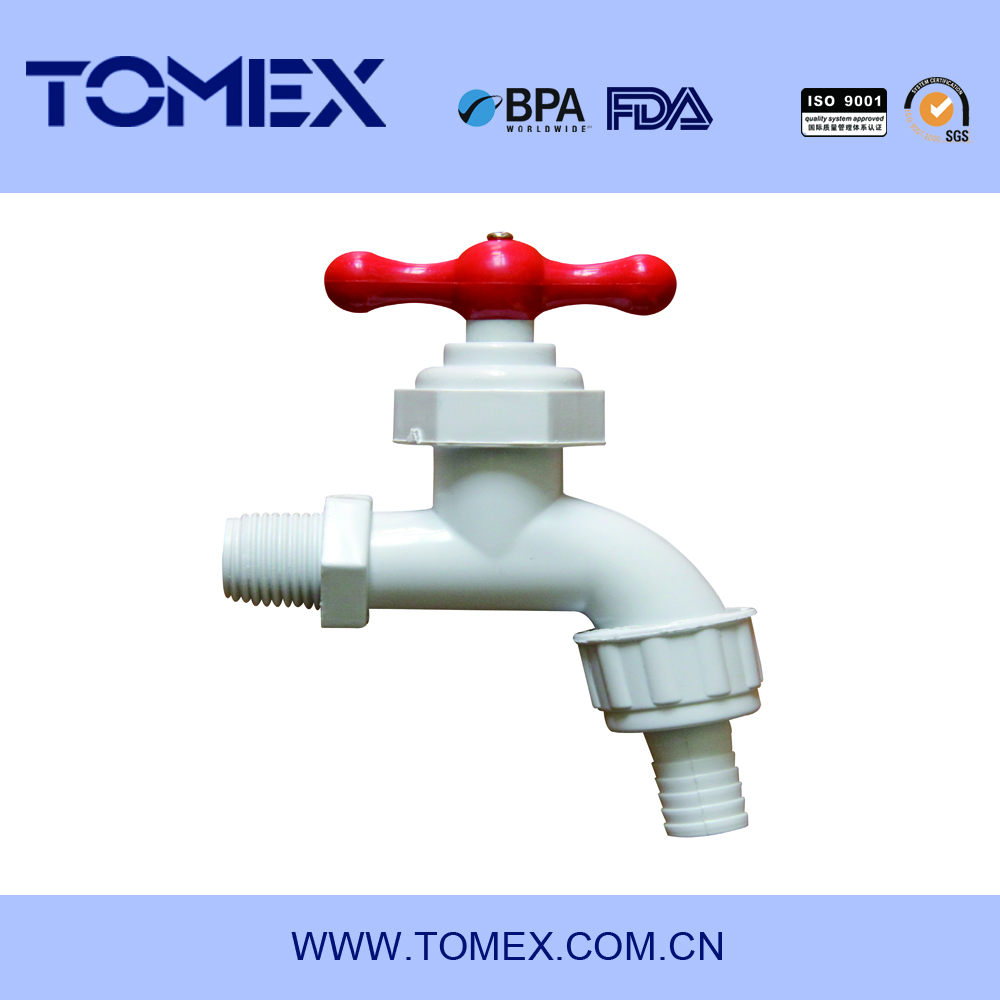 2015 china faucet factory plastic bibcock pvc water taps with high quality