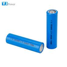 Button Top 3.7V Li-ion Rechargeable Battery Cell 18650 2600mAh