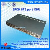 FTTB fiber to the building networking Solution multi-dweling unit 8 FE port EPON MDU
