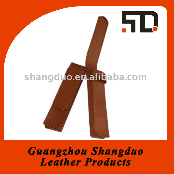 Guangzhou Manufacture Office Supply Genuine Leather Pen Case