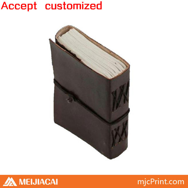 2014 Top quality fashionable custom pink leather notebook