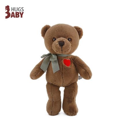 Custom wedding gift cute stuffed doll with red heart plush teddy bear