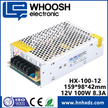 Voltage constant 8.33A power supply 100W 12V ac/dc led driver smps