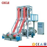 Double-layer co-extrusion stretch blowing film machine