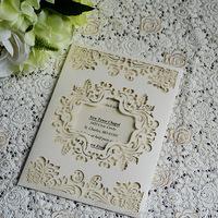Wedding party business luxurious wedding invitation card pocket envelope invitation wedding
