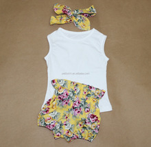 Baby frock designs wholesale baby clothes floral baby set