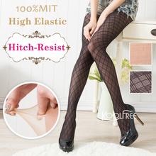 Girls Diamond Design Sheer Pantyhose