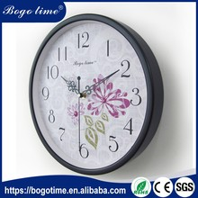 Factory Promotion Price custom Round wooden gift and craft Clock