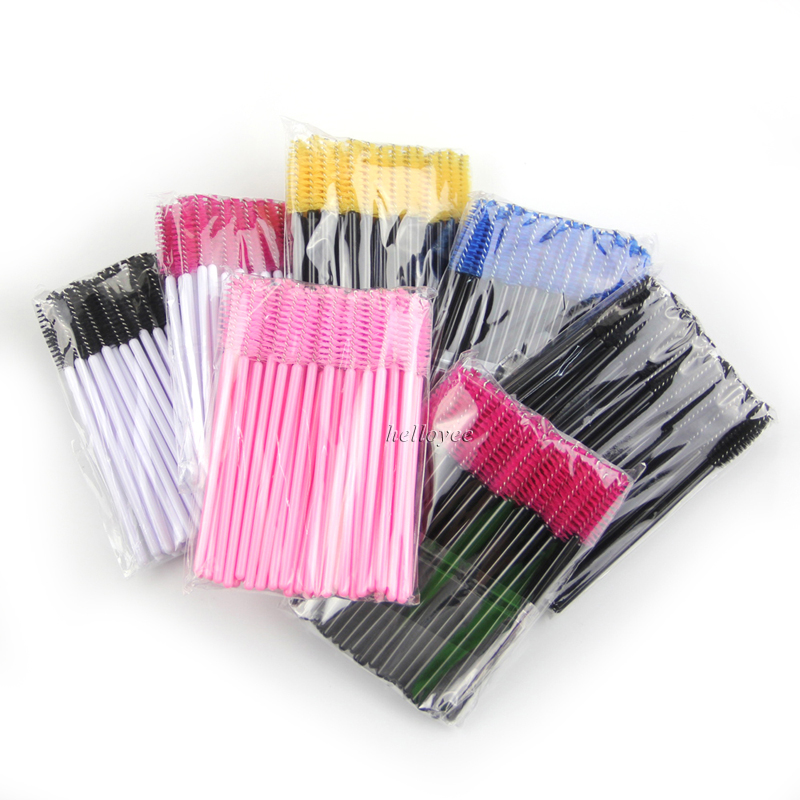 Wholesale One-Off Disposable Eyelash Brush Mascara Applicator Wand Brush Eyelash Comb Brushes Cosmetic Makeup Tool