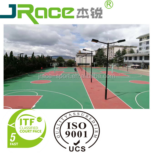 Used basketball sport court elastic rubber flooring