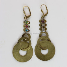 Cheap Brass Jewelry 24K Gold Earring Models Vibrating Body Piercing Jewelry
