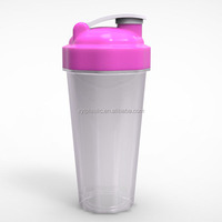Promotion Item 600ML Protein PP bpa free plastic new bottle mixer shaker cup With Wire Whisk Ball