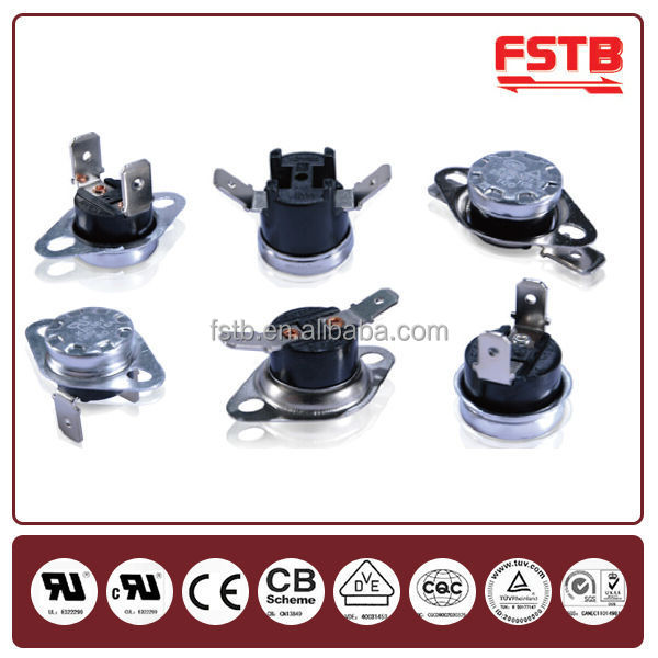 Electric Kettle Controller Automotive Temperature Switch KSD301 Thermostat 5A 250V Thermal Fuses