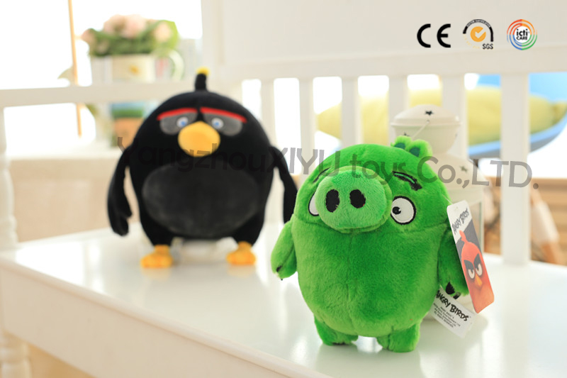 colorful angry love birds stuffed plush kiwi toy custom plush toys with good quality