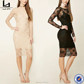 latest dress designs photos long sleeve bodycon lace overlay sexy prom dress