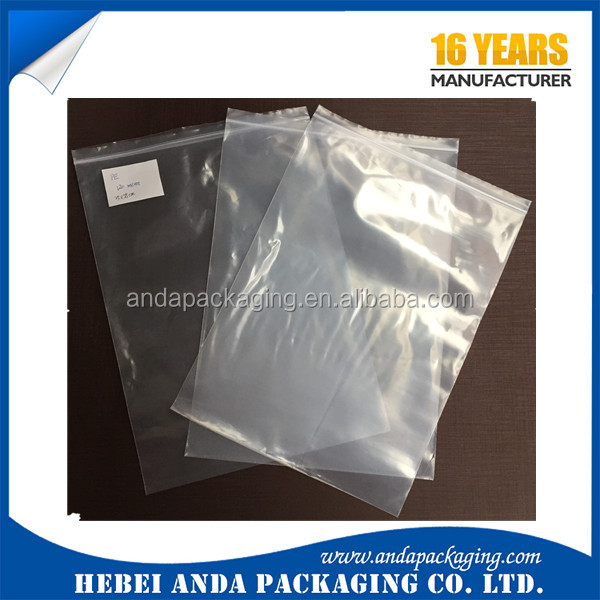 PE Food Packaging Zipper Bag Medical Mini Ziplock transparent Plastic bag