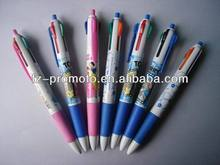 Colorful cartoon 4-color ballpen for promotion 1 in 4 pen