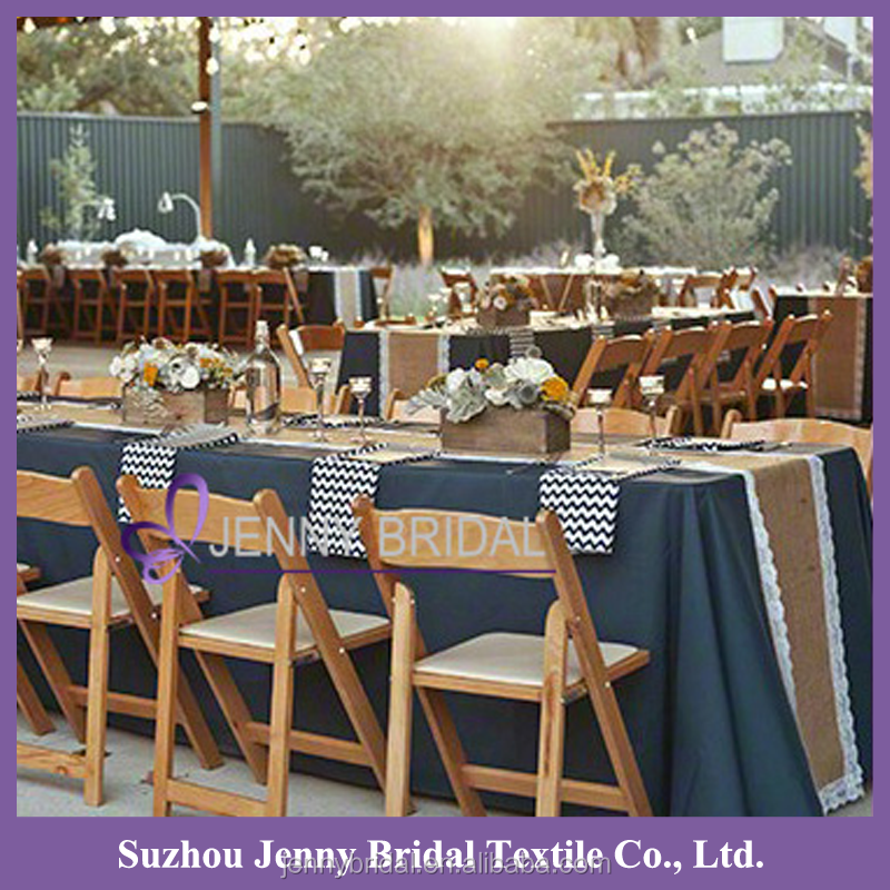 TR024A indian burlap table runners with lace table runners for weddings